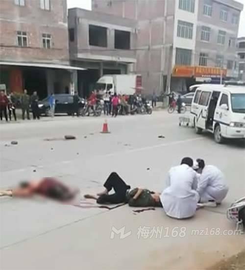 五华华南中学门口发生严重车祸,一死一伤!