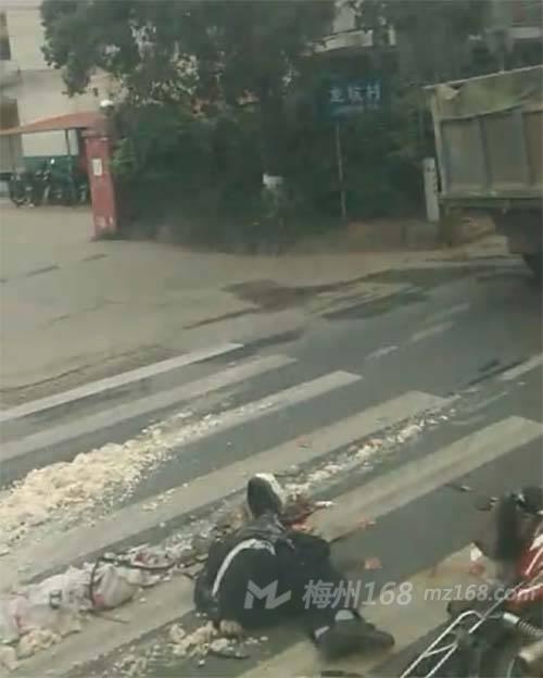 梅江西阳发生惨烈车祸,一人惨遭碾压,当场死亡!!