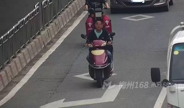 梅县交警曝光第一批驾驶摩托车不戴安全头盔违法人员